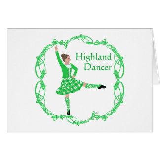 Scottish Highland Dancer - Green Card