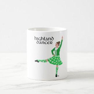 Scottish Highland Dancer Green Classic White Coffee Mug