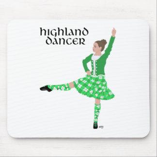Scottish Highland Dancer Green Mouse Mat