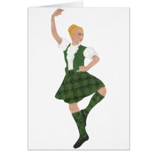 Scottish Highland Dancer Henderson Tartan Card