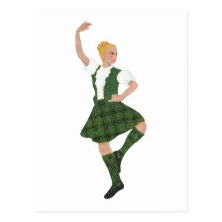 Scottish Highland Dancer Henderson Tartan Postcard