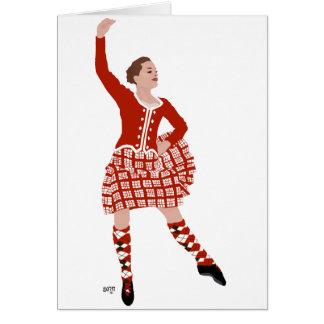 Scottish Highland Dancer in Red Card