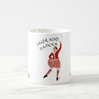 Scottish Highland Dancer in Red Classic White Coffee Mug