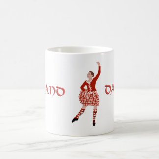 Scottish Highland Dancer in Red Coffee Mugs