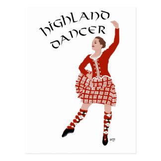 Scottish Highland Dancer in Red Postcard