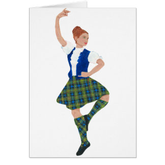 Scottish Highland Dancer MacLaren Tartan Card