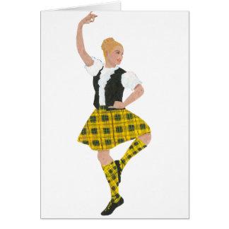 Scottish Highland Dancer MacLeod Tartan Card