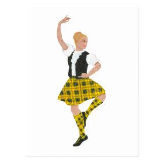 Scottish Highland Dancer MacLeod Tartan Postcard