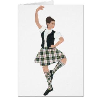 Scottish Highland Dancer MacPherson Tartan Card