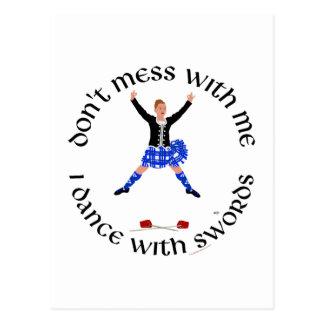 Scottish Highland Dancer Postcard