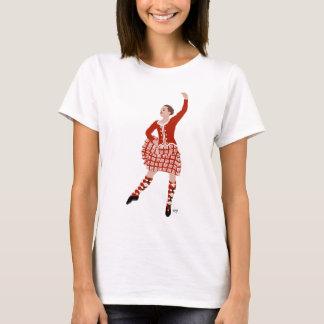 Scottish Highland Dancer Red Aboyne T-Shirt