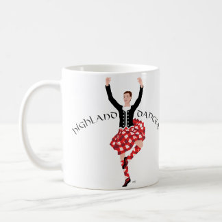 Scottish Highland Dancer Red and Black Classic White Coffee Mug
