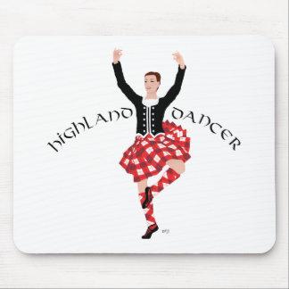 Scottish Highland Dancer Red and Black Mousepad