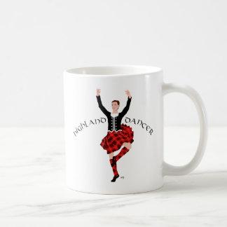 Scottish Highland Dancer Red and Black Mugs
