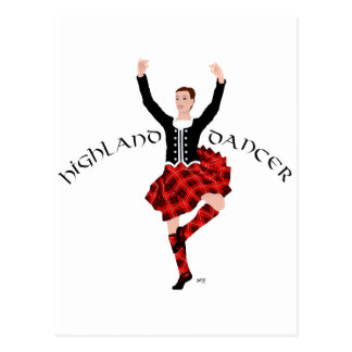 Scottish Highland Dancer Red and Black Postcard