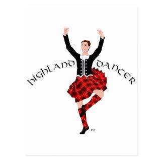 Scottish Highland Dancer Red and Black Postcard