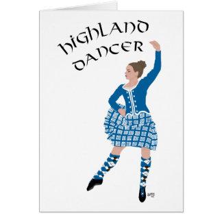 Scottish Highland Dancer - Teal Card