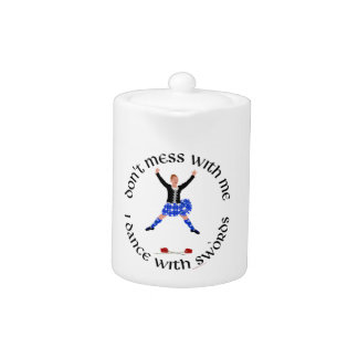 Scottish Highland Dancer Teapot