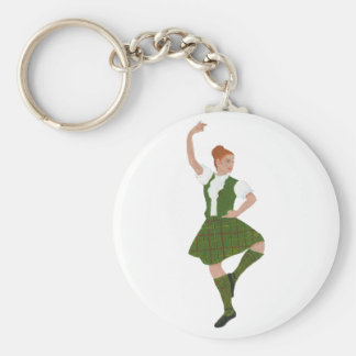 Scottish Highland Dancer Tribe of Mar Tartan Basic Round Button Keychain