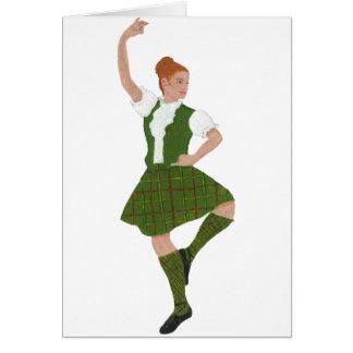 Scottish Highland Dancer Tribe of Mar Tartan Card