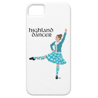 Scottish Highland Dancer - Turquoise iPhone SE/5/5s Case