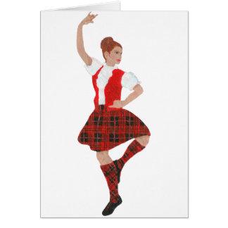 Scottish Highland Dancer Wallace Tartan Card