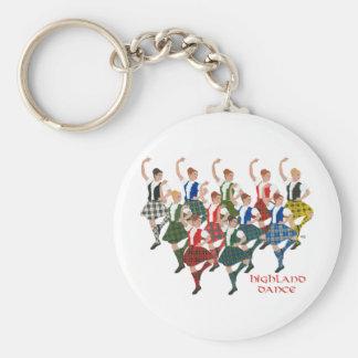 Scottish Highland Dancers Basic Round Button Keychain