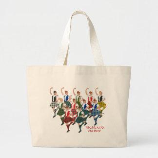 Scottish Highland Dancers Jumbo Tote Bag