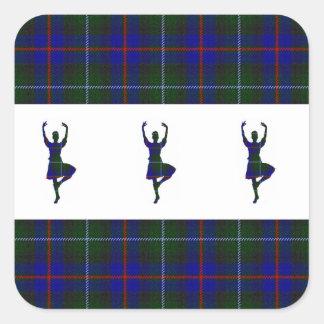 Scottish Highland Dancers Square Sticker