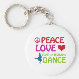 Scottish Highland dancing designs Basic Round Button Keychain