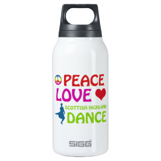 Scottish Highland dancing designs Insulated Water Bottle