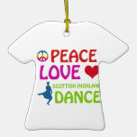 Scottish Highland dancing designs Christmas Ornaments