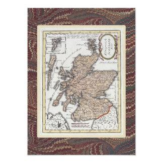 Scottish Highland Festival Antique Map Elegant Card