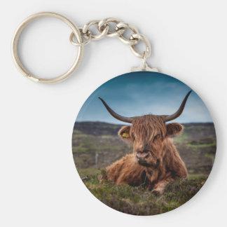 Scottish Highland longhorns Rancher Keychain