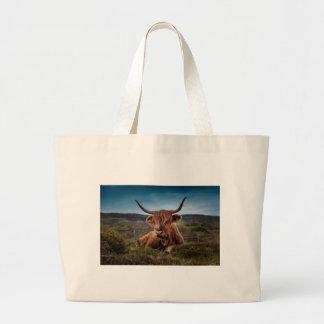 Scottish Highland longhorns Rancher Large Tote Bag