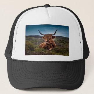 Scottish Highland longhorns Rancher Trucker Hat