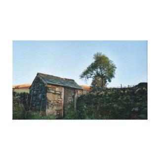 Scottish Highland Shack Canvas Print