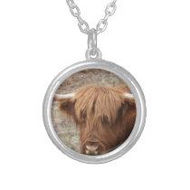 Scottish Highlander Silver Plated Necklace