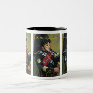 Scottish Highlander Two-Tone Coffee Mug