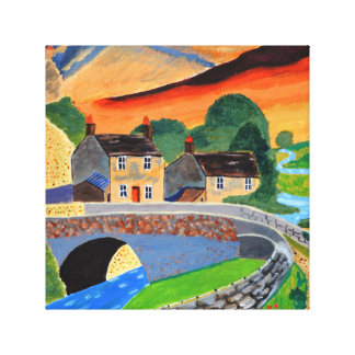 Scottish Highlands 2 , Stretched Canvas Print