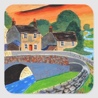 Scottish Highlands 3 Square Sticker