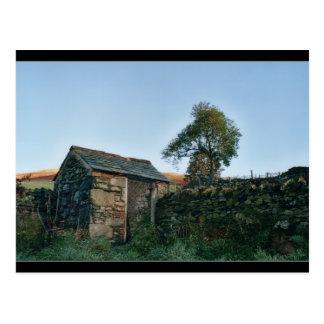 Scottish Highlands Shack Postcard