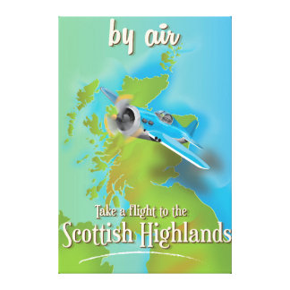 Scottish highlands travel poster canvas print
