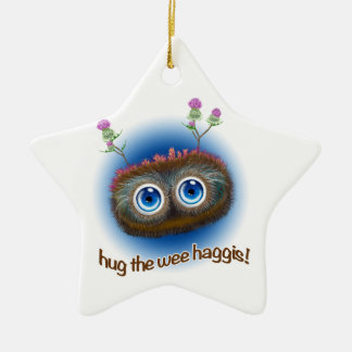 Scottish 'Hoots Toots Haggis' Ceramic Ornament