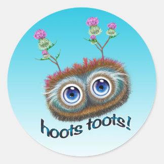 "Scottish ""Hoots Toots"" Haggis Classic Round Sticker"