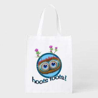 Scottish Hoots Toots Haggis Grocery Bag