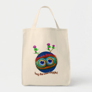 Scottish 'Hoots Toots Haggis' Grocery Tote Bag