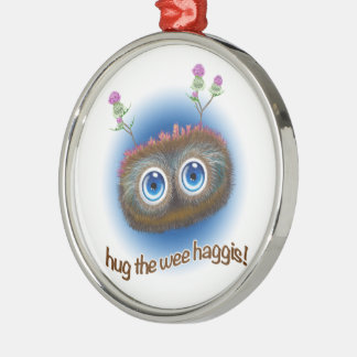 Scottish 'Hoots Toots Haggis' Metal Ornament