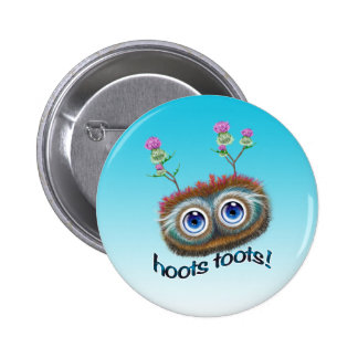 Scottish 'Hoots Toots' Haggis Pinback Button