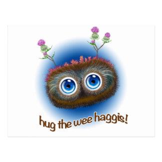 Scottish 'Hoots Toots Haggis' Postcard